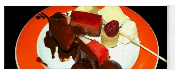 Chocolate And Cheese On A Plate Yoga Mat