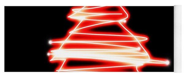 Christmas Tree Lighting Yoga Mat