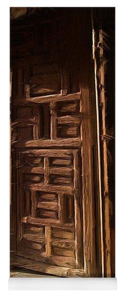 Church Door At Atotonilco Yoga Mat
