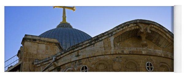 church of the Holy Sepulchre Old city Jerusalem Yoga Mat