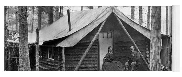 Civil War: Log Cabin, 1864 Yoga Mat
