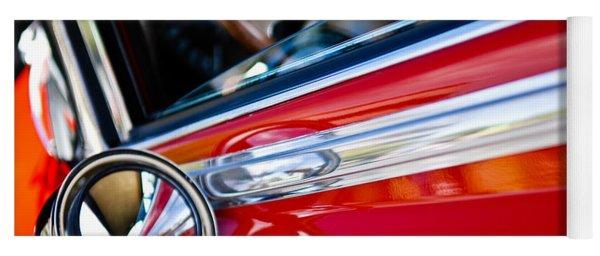 Classic Red Car Artwork Yoga Mat