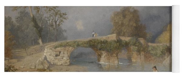 Clearing Up For Fine Weather Beddgelert North Wales 1867 Yoga Mat