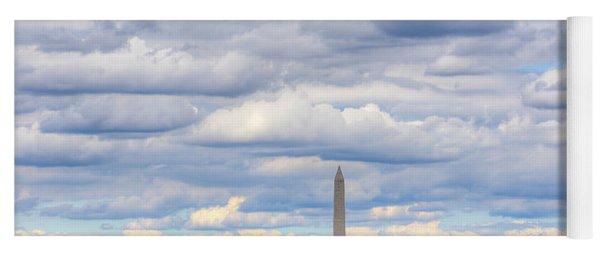 Clouds Over Washington Dc Yoga Mat