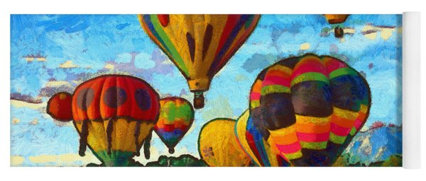 Launch yoga mats fine art america colorado springs hot air balloons yoga mat malvernweather Images
