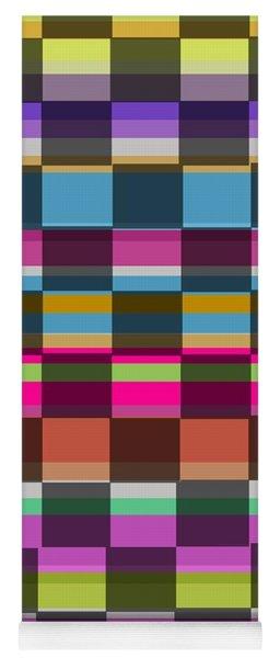 Colorful Cubes Yoga Mat