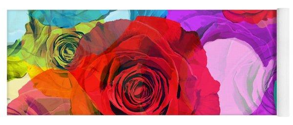 Colorful Floral Design  Yoga Mat