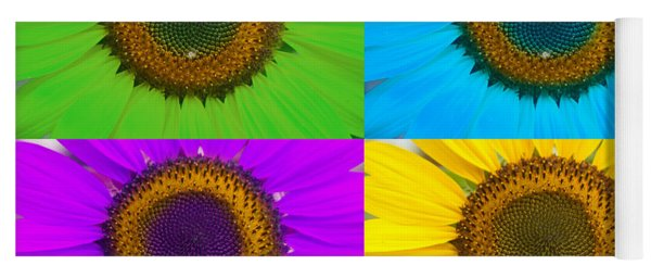 Colorful Sunflowers Yoga Mat