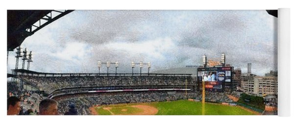 Comerica Park Home Of The Detroit Tigers Yoga Mat
