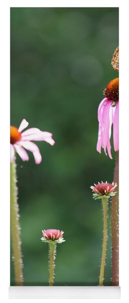 Coneflowers And Butterfly Yoga Mat