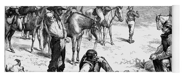 Cowboys At Bullfight, 1880 Yoga Mat