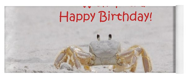 Yoga Mat featuring the photograph Crab Happy Birthday by Judy Hall-Folde