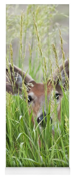Deer In Hiding Yoga Mat
