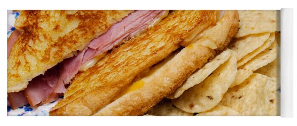 Deli Ham And Cheese With Chips 2 Yoga Mat