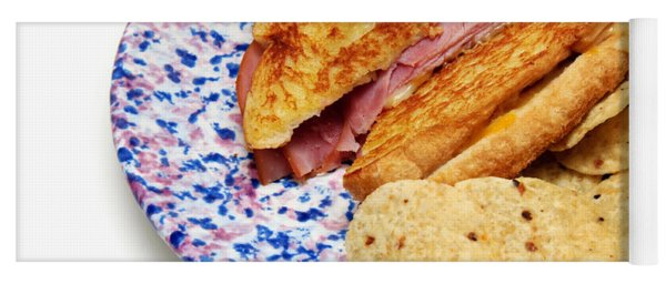 Deli Ham And Cheese With Chips Yoga Mat