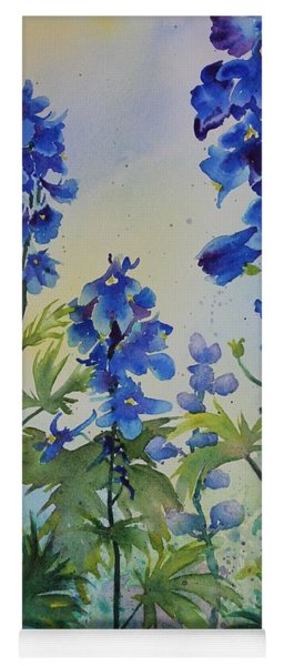 Delphiniums Yoga Mat