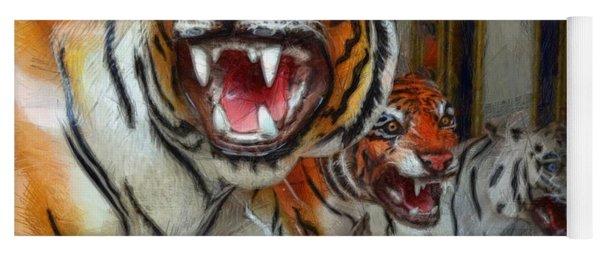 Detroit Tigers Carousel Yoga Mat