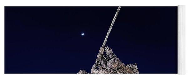 Digital Drawing - Iwo Jima Memorial At Dusk Yoga Mat