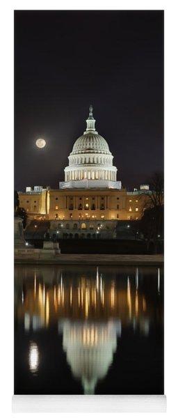Digital Liquid - Full Moon At The Us Capitol Yoga Mat