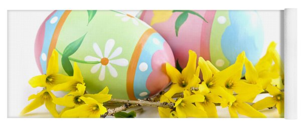 Easter Eggs Yoga Mat