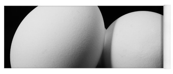 Eggs In Black And White Yoga Mat
