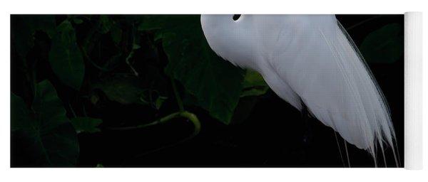 Egret On A Branch Yoga Mat