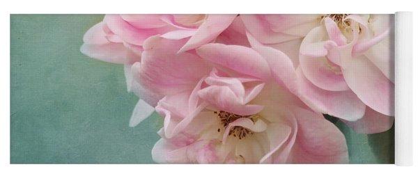 Enchanted Pink Rose Yoga Mat