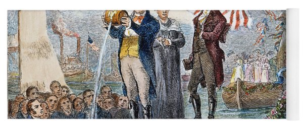 Erie Canal Opening, 1825 Yoga Mat