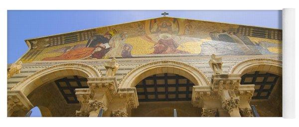 facade of Church of all Nations Jerusalem Yoga Mat