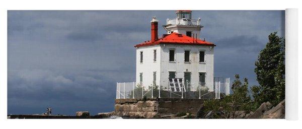 Fairport Harbor West Breakwater Lighthouse Yoga Mat