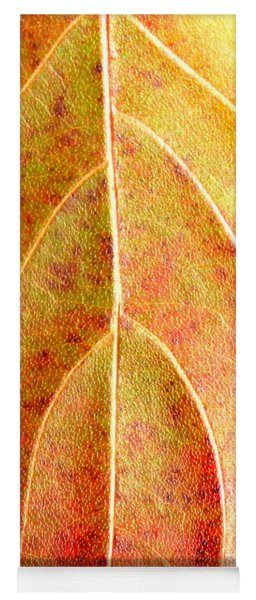 Fall Leaf Upclose Yoga Mat