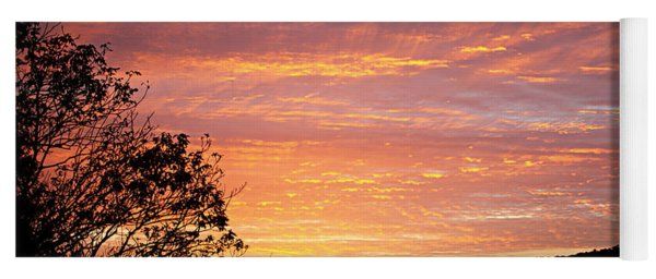Fall Sunrise Yoga Mat