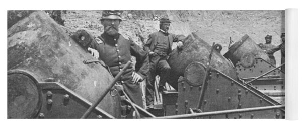 Federal Siege Guns Yorktown Virginia During The American Civil War Yoga Mat
