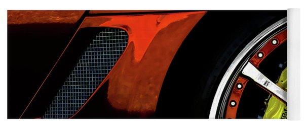 Ferrari Wheel Detail Yoga Mat