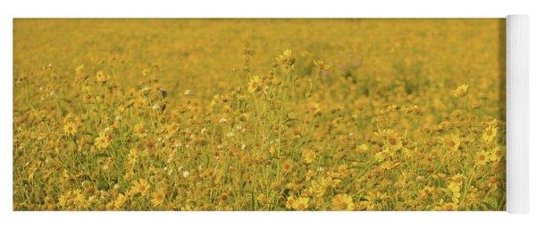 Field Of Yellow Daisy's Yoga Mat