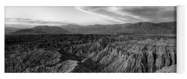 Font's Point Overlook   Black And White Yoga Mat