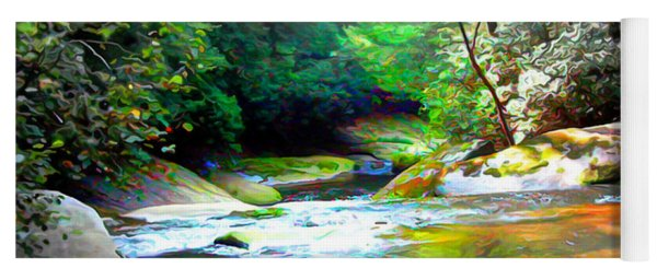 French Broad River Filtered Yoga Mat