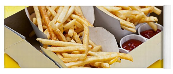 French Fries In Box Yoga Mat