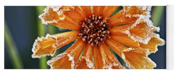 Frosty Flower Yoga Mat