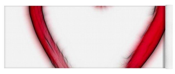 Furry Heart - Symbol Of Love Yoga Mat