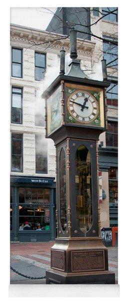 Gastown Steam Clock Yoga Mat