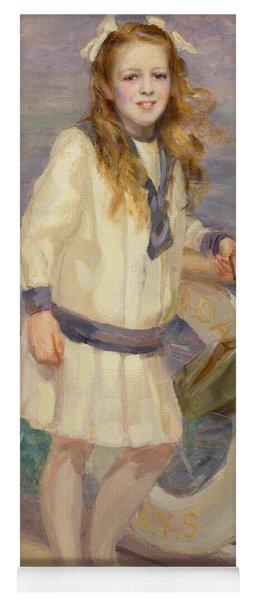 Girl In A Sailor Suit Yoga Mat