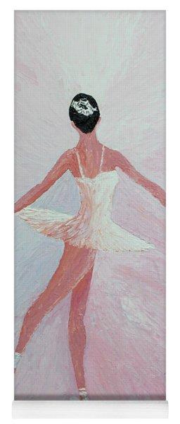 Glowing Ballerina Original Palette Knife  Yoga Mat