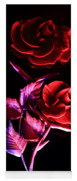 Glowing Glass Rose Yoga Mat
