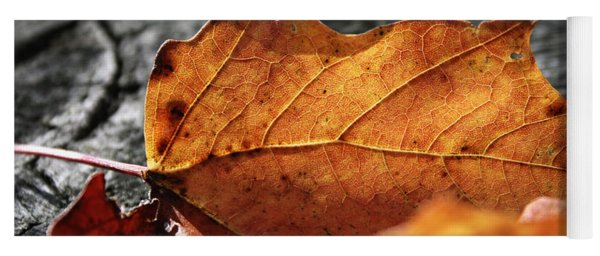 Golden Leaf Yoga Mat