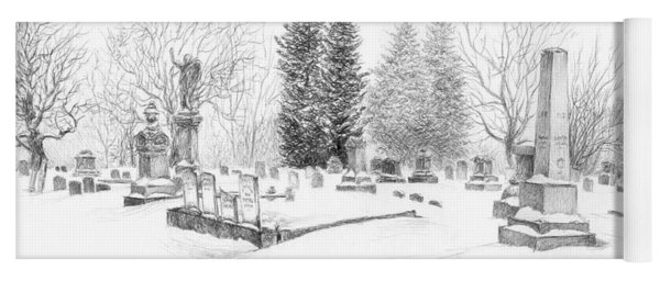 Graveyard In The Snow Yoga Mat