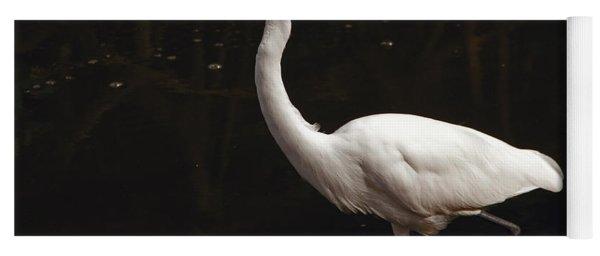 Great Egret Hunting Yoga Mat
