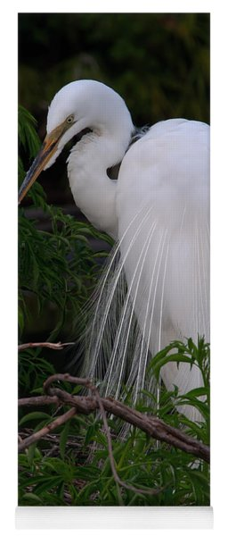 Great Egret Nesting Yoga Mat