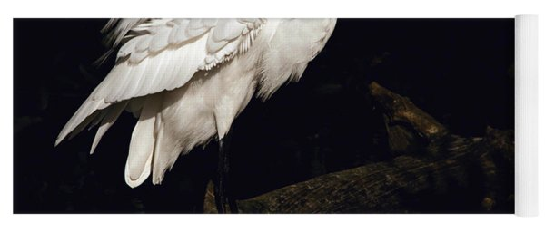 Great Egret Ruffles His Feathers Yoga Mat