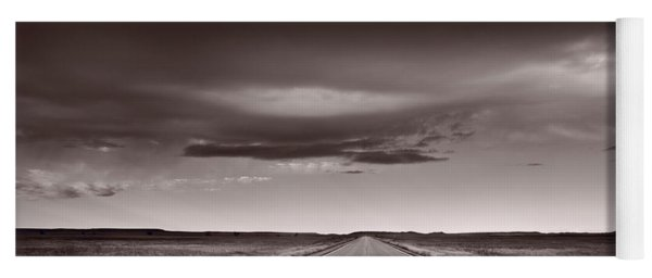 Great Plains Road Trip Bw Yoga Mat
